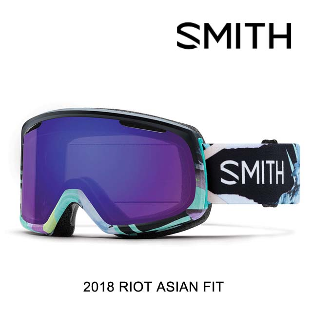 2018 SMITH スミス ゴーグル WOMEN'S GOGGLE RIOT EMILY HOY/CHROMAPOP EVERYDAY VIOLET MIRROR+YELLOW ASIAN FIT