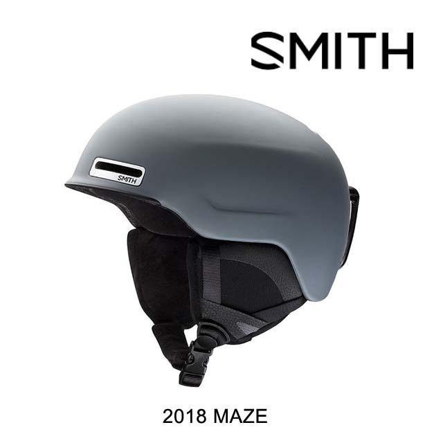 2018 SMITH スミス ヘルメット HELMET MAZE MATTE CHARCOAL