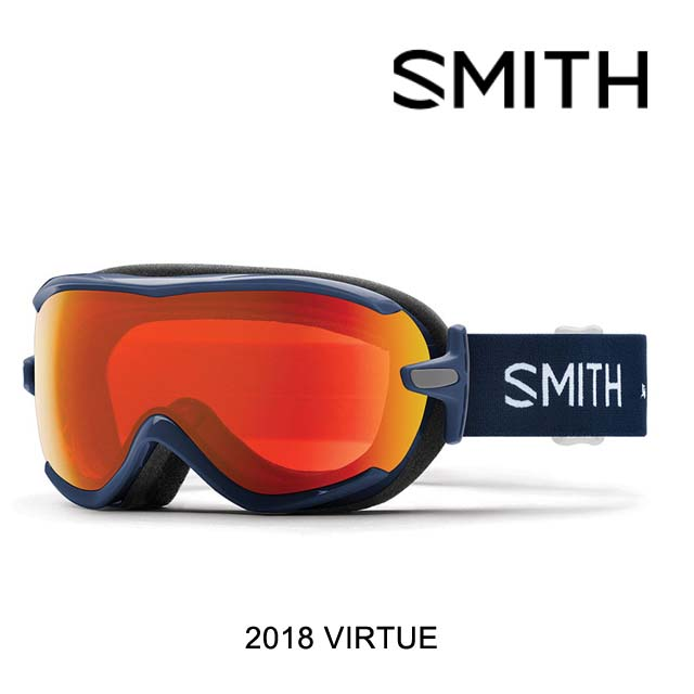 2018 SMITH スミス ゴーグル WOMEN'S GOGGLE VIRTUE NAVY MICRO FLORAL/CHROMAPOP EVERYDAY RED MIRROR