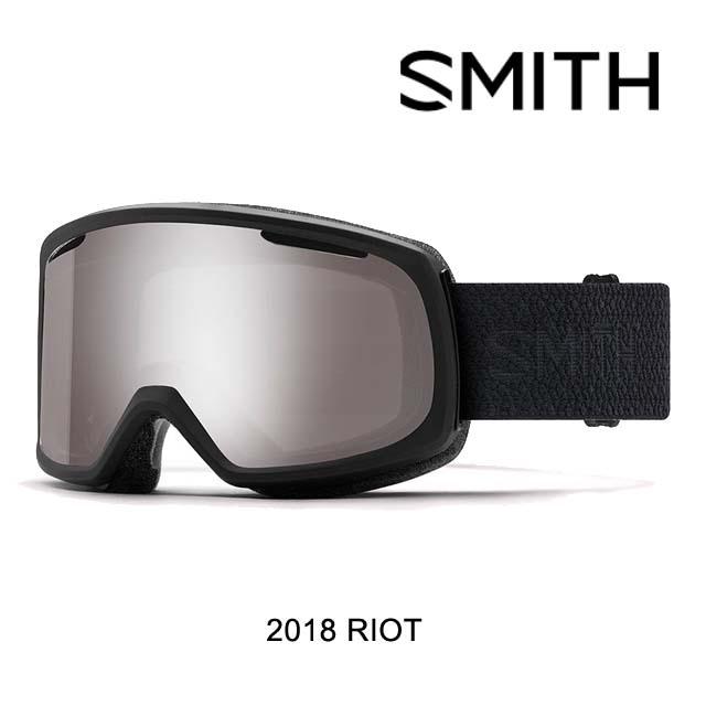 2018 SMITH スミス ゴーグル WOMEN'S GOGGLE RIOT BLACK MOSAIC/CHROMAPOP SUN PLATINUM MIRROR+YELLOW ASIAN FIT