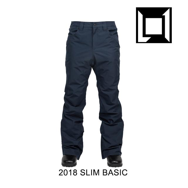 2018 L1 エルワン パンツ SLIM BASIC PANT INK