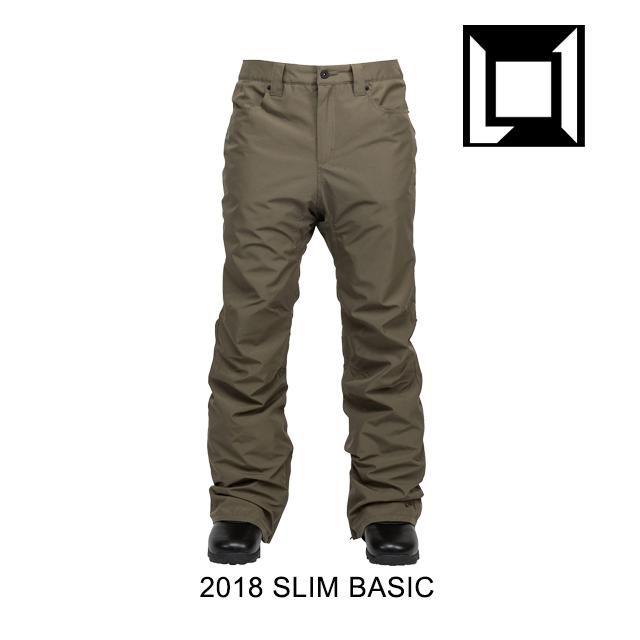 2018 L1 エルワン パンツ SLIM BASIC PANT MILITARY