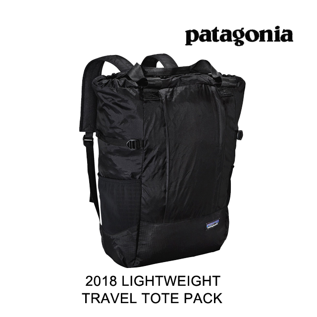 2018 PATAGONIA パタゴニア トートバッグ LIGHTWEIGHT TRAVEL TOTE PACK 22L BLK BLACK