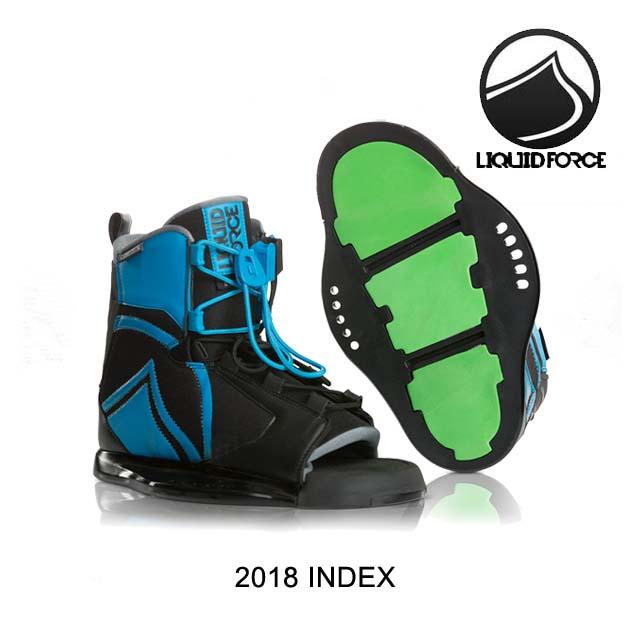2018 LIQUID FORCE リキッドフォース バインディング BINDING INDEX BLUE/BLACK 5-8