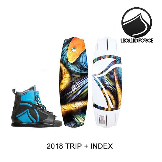 2018 LIQUID FORCE リキッドフォース ウェイクボード WAKEBOARD TRIP 138 + バインディング BINDING INDEX BLUE/BLACK 8-12