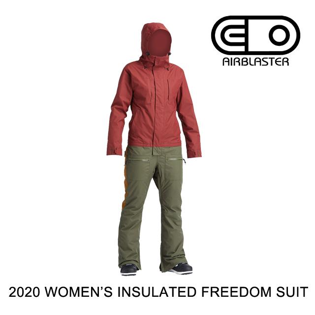 2020 AIRBLASTER エアブラスター ワンピース WOMEN'S INSULATED FREEDOM SUIT OXBLOOD SURPLUS
