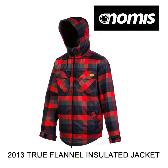 入荷中 2013 JACKET NOMIS BLACK ノーミス ジャケット NOMIS TRUE FLANNEL INSULATED JACKET BLACK, アワラシ:e859cc79 --- hortafacil.dominiotemporario.com