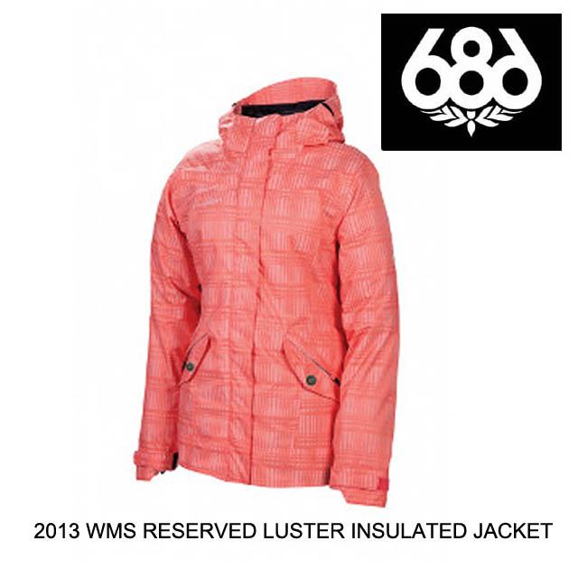 2013 686 シックスエイトシックス ジャケット WOMEN'S RESERVED LUSTER INSULATED JACKET CORAL HEATHER PLAID