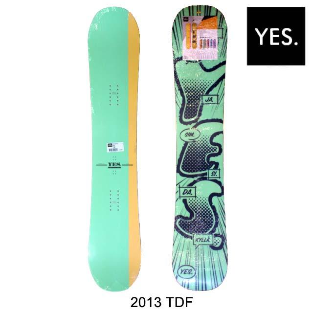 2013 YES イエス スノーボード SNOWBOARD TDF TADASHI FUSE MODEL 150