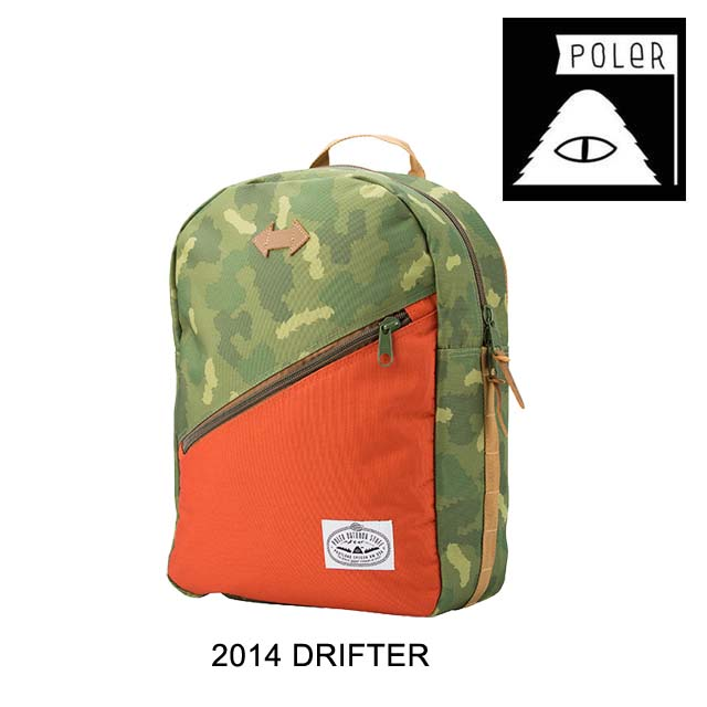 2014 POLER ポーラー バックパック THE DRIFTER PACK CAMO/ORANGE