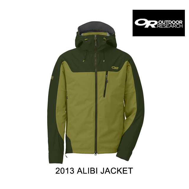 2013 OUTDOOR RESEARCH アウトドアリサーチ ジャケット ALIBI JACKET HOPS/EVERGREEN