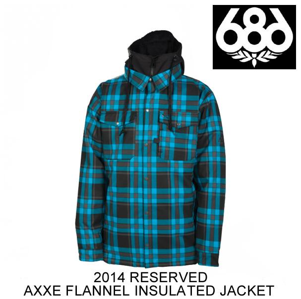 2014 686 シックスエイトシックス ジャケット RESERVED AXXE FLANNEL INSULATED JACKET BLUEBIRD PLAID