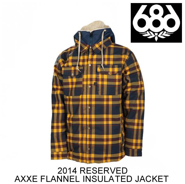2014 686 シックスエイトシックス ジャケット RESERVED AXXE FLANNEL INSULATED JACKET INDIGO PLAID