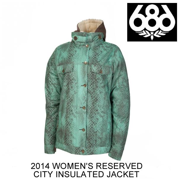 2014 686 シックスエイトシックス ジャケット WOMEN'S RESERVED CITY INSULATED JACKET MIST PYTHON
