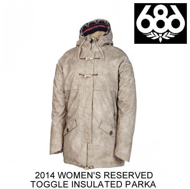 2014 686 シックスエイトシックス ジャケット WOMEN'S RESERVED TOGGLE INSULATED PARKA TAUPE OIL