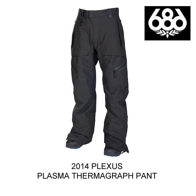 開店祝い 2014 BLACK 686 シックスエイトシックス PLASMA パンツ PLEXUS PLASMA THERMAGRAPH PANT PANT BLACK SLUB, 車遊人:84da1d5d --- bibliahebraica.com.br
