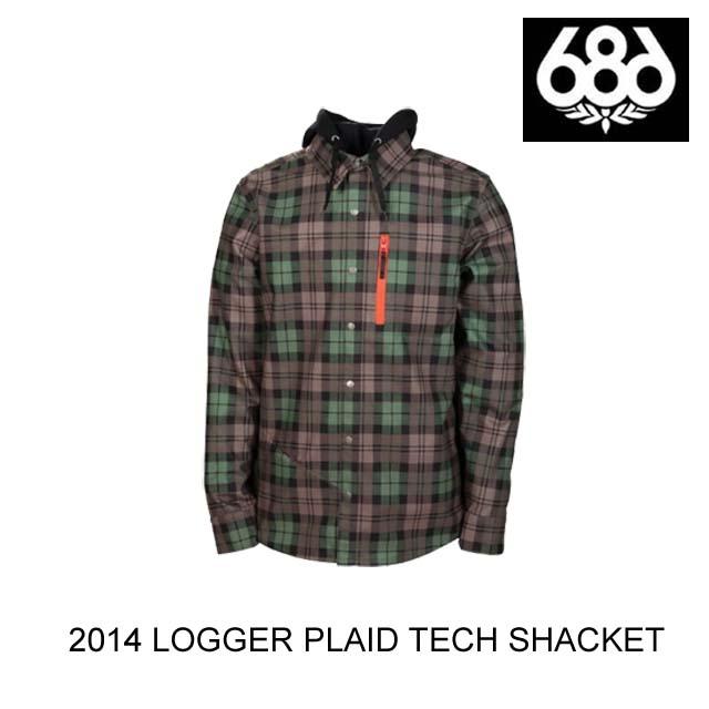 2014 686 シックスエイトシックス ジャケット LOGGER PLAID TECH SHACKET TOBACCO TARTAN PLAID