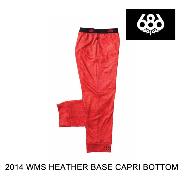 2014 送料無料限定セール中 686 シックスエイトシックス レイヤー WOMEN'S セール開催中最短即日発送 HEATHER BASE RED CAPRI BOTTOM LAYER