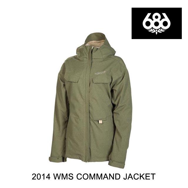 2014 686 シックスエイトシックス ジャケット WOMEN'S SMARTY COMMAND JACKET ARMY