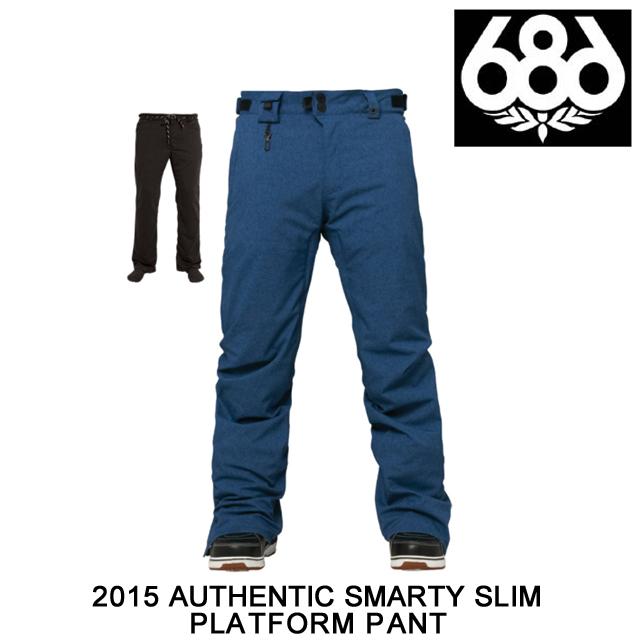 2015 686 シックスエイトシックス パンツ AUTHENTIC SMARTY SLIM PLATFORM PANT INDIGO TEXTURE