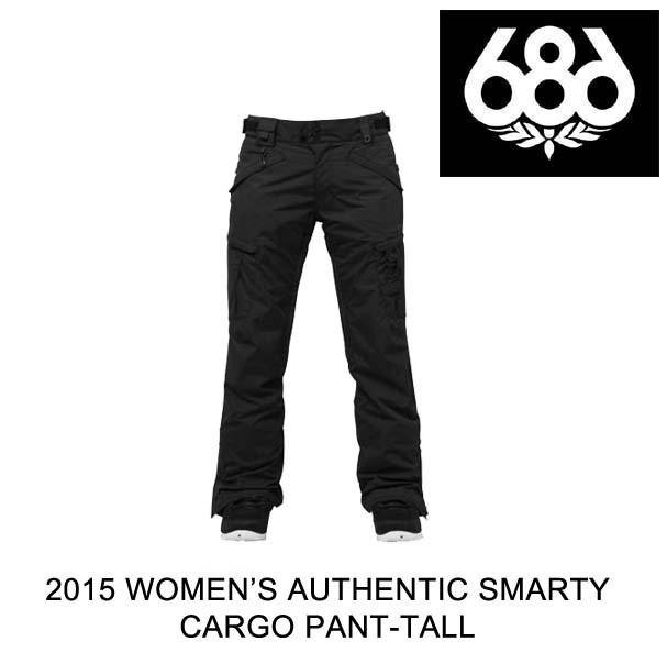 2015 686 シックスエイトシックス パンツ WOMEN'S AUTHENTIC SMARTY CARGO PANT BLACK TALL