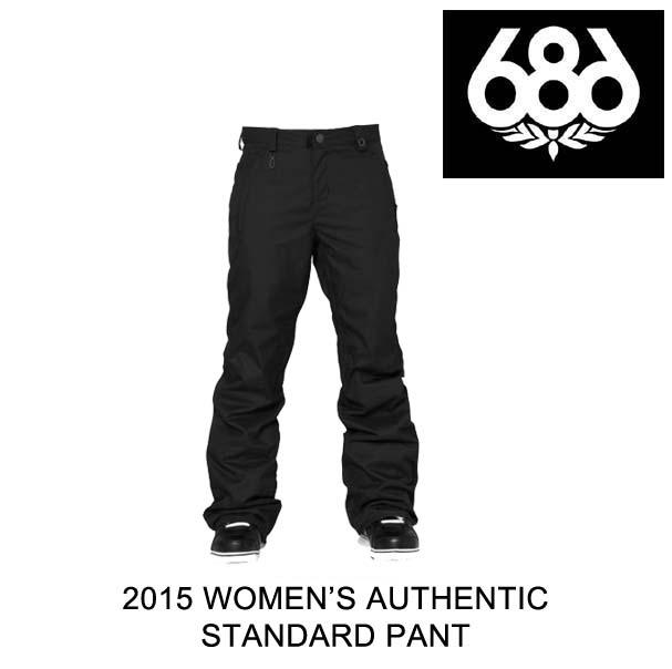 2015 686 シックスエイトシックス パンツ WOMEN'S AUTHENTIC STANDARD PANT BLACK
