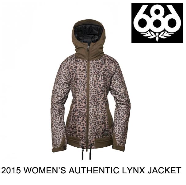 2015 686 シックスエイトシックス ジャケット WOMEN'S AUTHENTIC LYNX JACKET TOBACCO LEOPARD-LACE