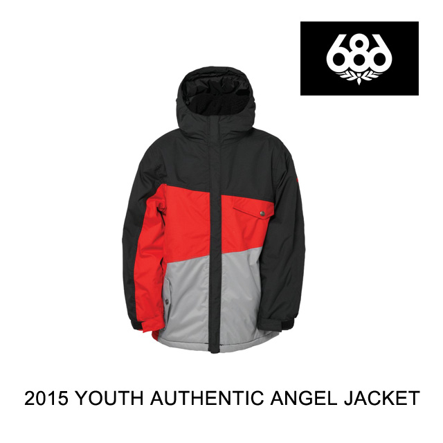2015 686 シックスエイトシックス ジャケット YOUTH BOYS AUTHENTIC ANGLE JACKET RED COLORBLOCK