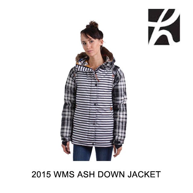 2015 PLAID BW STRIPE ASH ホールデン BW DOWN JACKT HOLDEN WOMEN'S ジャケット
