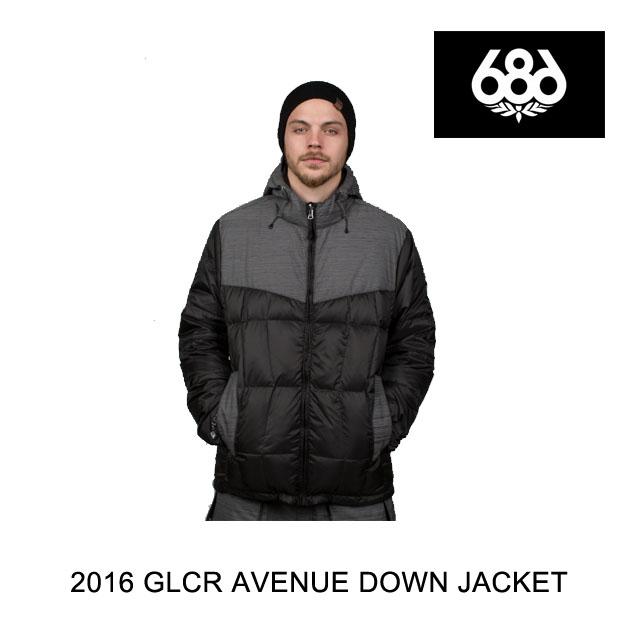 2016 686 シックスエイトシックス ジャケット GLCR AVENUE DOWN JACKET BLACK ZIG-ZAG DOBBY