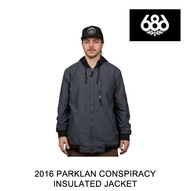 2016 686 シックスエイトシックス ジャケット PARKLAN CONSPIRACY INSULATED JACKET NAVY TWILL