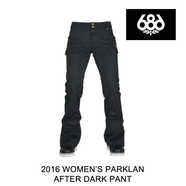2016 686 シックスエイトシックス パンツ WOMEN'S PARKLAN AFTER DARK PANT BLACK WOOL LIKE DENIM