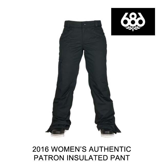 2016 686 シックスエイトシックス パンツ WOMEN'S AUTHENTIC PATRON INSULATED PANT BLACK HERRINGBONE