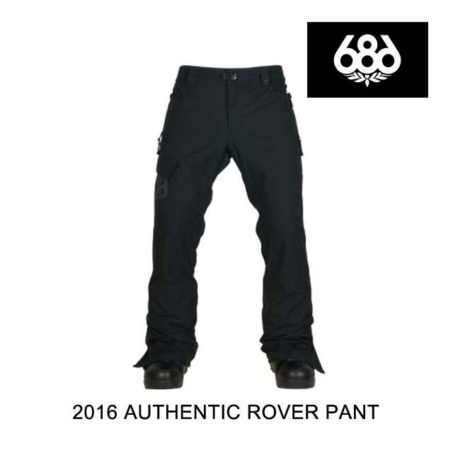 2016 686 シックスエイトシックス パンツ AUTHENTIC ROVER PANT BLACK