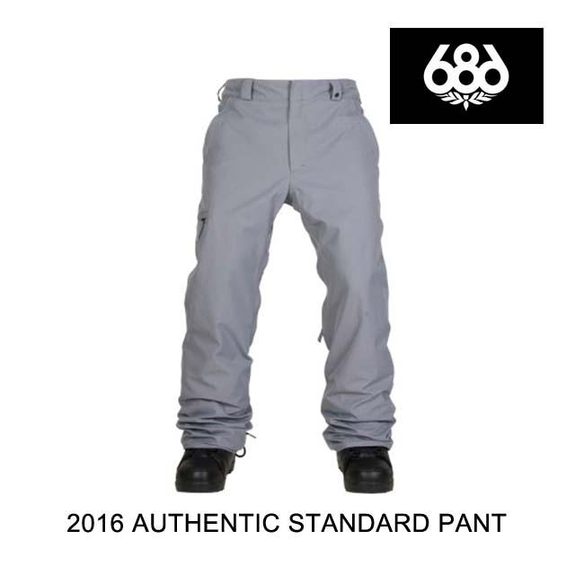 2016 686 シックスエイトシックス パンツ AUTHENTIC STANDARD PANT GREY