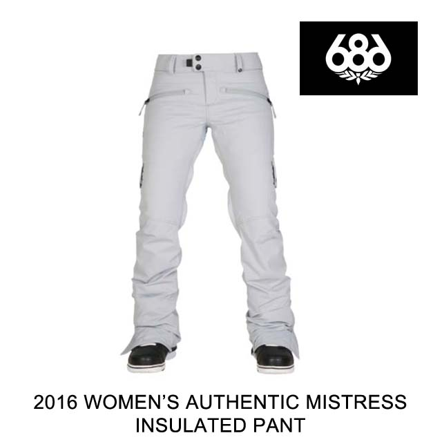 2016 686 シックスエイトシックス パンツ WOMEN'S AUTHENTIC MISTRESS INSULATED PANT LT. GREY DIAMOND DOBBY