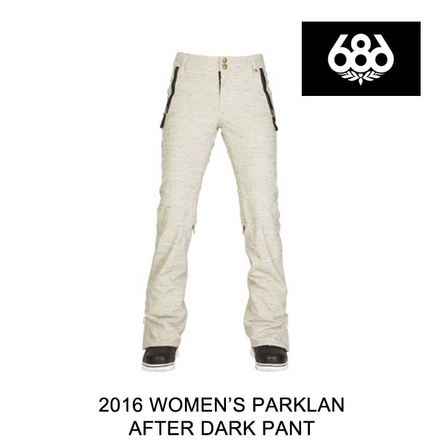 2016 686 シックスエイトシックス パンツ WOMEN'S PARKLAN AFTER DARK PANT IVORY LATTICE SLUB