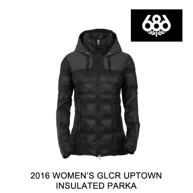 2016 686 シックスエイトシックス ジャケット WOMEN'S GLCR UPTOWN INSULATED PARKA BLACK CIRE