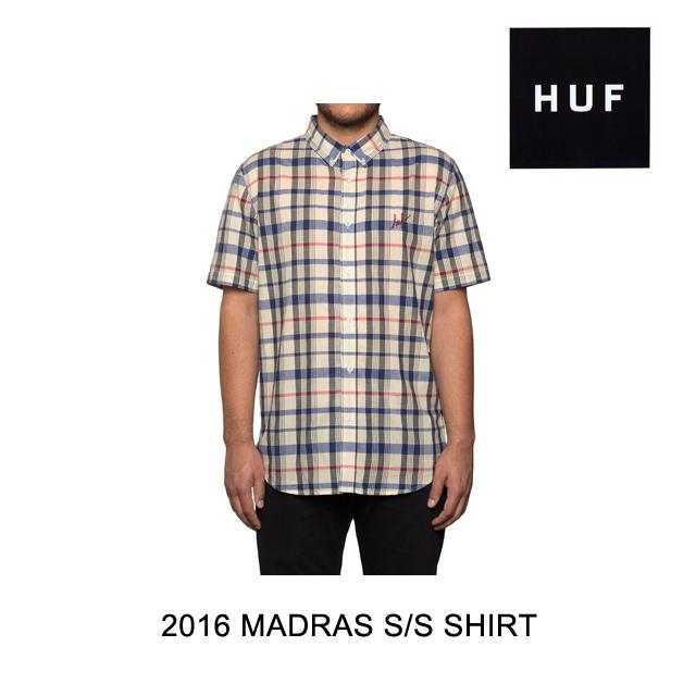 2016 HUF ハフ シャツ MADRAS S/S SHIRT TRICOLOR