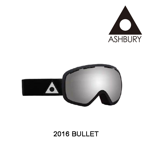 2016 ASHBURY アシュベリー ゴーグル GOGGLE BULLET BLACK/SILVER MIRROR+YELLOW