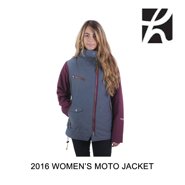 2016 HOLDEN ホールデン ジャケット WOMEN'S MOTO JACKET CHAMBRAY PORT ROYALE