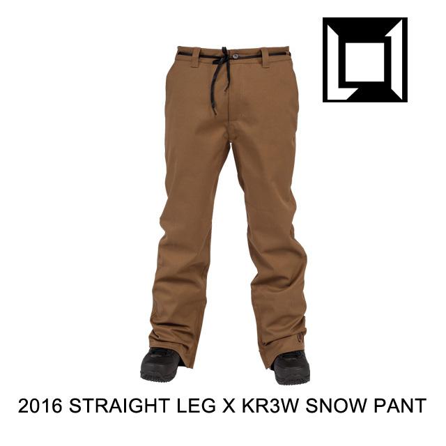 2016 L1 エルワン パンツ KR3W STRAIGHT LEG PANT COFFEE