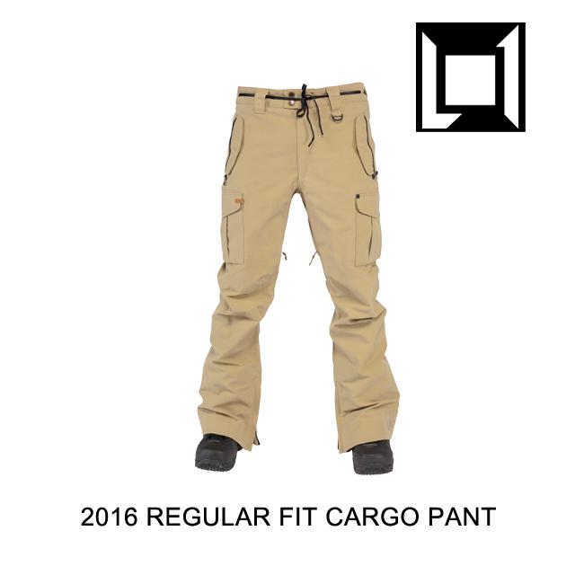 2016 L1 エルワン パンツ REGULAR FIT CARGO PANT KHAKI