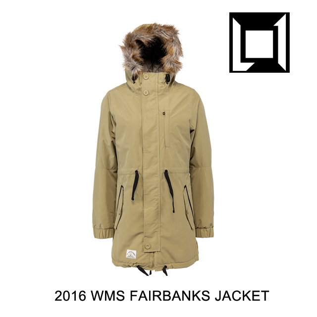 2016 L1 エルワン ジャケット WOMENS FAIRBANKS JACKET KHAKI