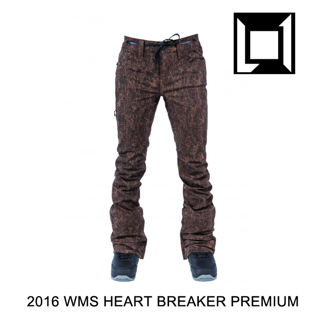 2016 L1 エルワン パンツ WOMENS HEARTBREAKER PREMIUM PANT BROWN ACID WASH