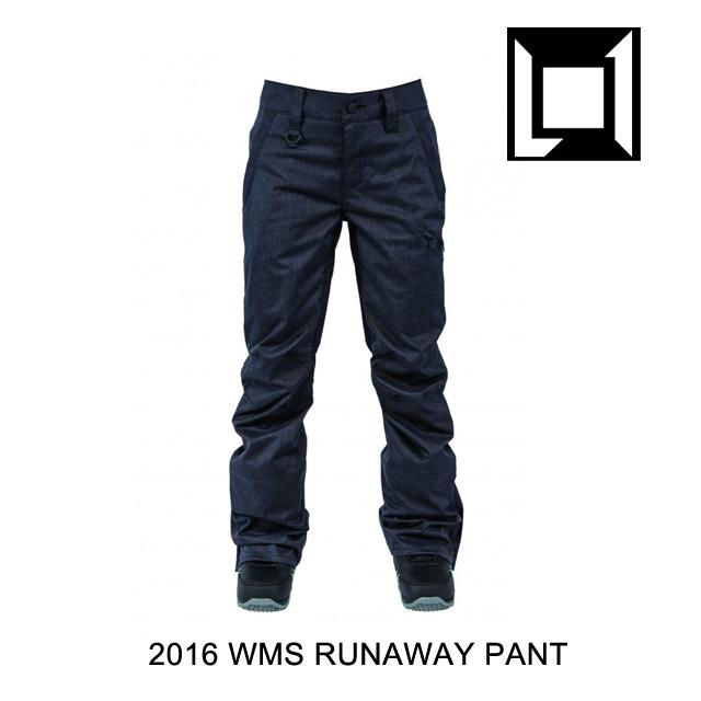 2016 L1 エルワン パンツ WOMENS RUNAWAY PANT BLACK