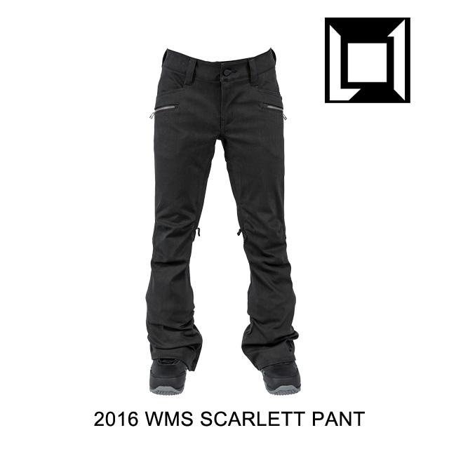 2016 L1 エルワン パンツ WOMENS SCARLETT PANT BLACK WAX DENIM