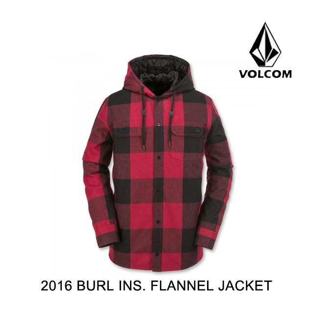 【限定製作】 2016 VOLCOM ボルコム ジャケット BURL INSULATED BURL FLANNEL JACKET FLANNEL VOLCOM RED, 都窪郡:fe8ef633 --- canoncity.azurewebsites.net