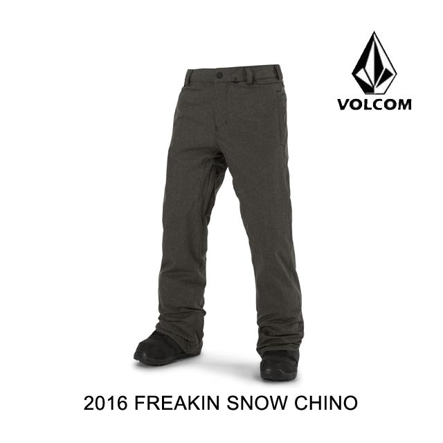 2016 VOLCOM ボルコム パンツ FREAKIN SNOW CHINO VBK