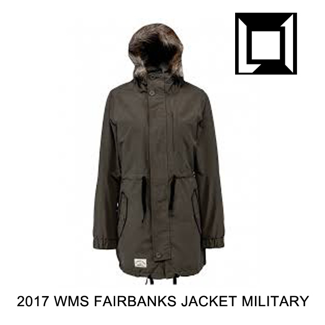 2017 L1 エルワン ジャケット WOMEN'S FAIRBANKS JACKET MILITARY